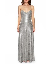 Strappy foil maxi dress medium 1101445