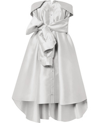 Alexis Mabille Bow Detailed Satin Twill Mini Dress