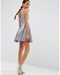 Asos Night High Apex Bonded Mini Prom Dress