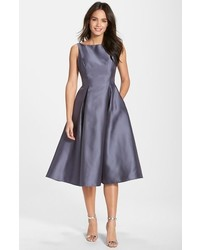 Adrianna Papell Sleeveless Mikado Fit Flare Midi Dress