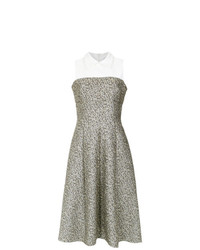 Olympiah Textured Flare Dress