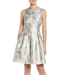 Vince Camuto Metallic Fit Flare Dress