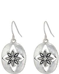 The Sak Floral Oval Drop Earrings Earring