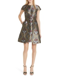 Ted Baker London Ice Palace Metallic Detail Skater Dress