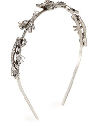 Oscar de la Renta Floral Baguette Crystal Headband