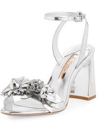 Sophia Webster Lilico Floral Leather Block Heel Sandal