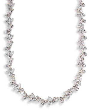 Carolee Necklace Crystal Floral Collar