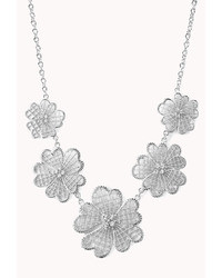 Forever 21 Cutout Craze Floral Necklace