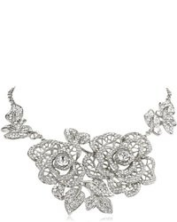 Nina Lucia Pave Crystal Floral Statet Necklace