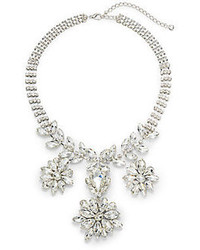 Natasha Floral Sparkle Bib Necklace