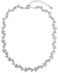 Givenchy Necklace Silver Tone Crystal