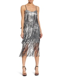 Dress the Population Roxy Fringe Shift Dress