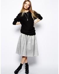 Asos Collection Full Midi Skirt In Jacquard