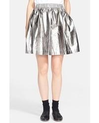 MSGM Lam Skirt