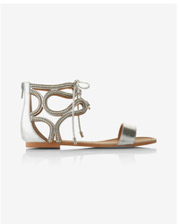 Express Metallic Twirl Gladiator Sandals