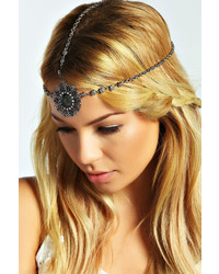Boohoo Kelsey Gem Statet Head Chain