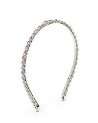 Natasha Braided Metallic Headbandsilvertone