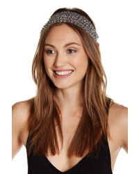 Noir Stretch Metallic Chain Headband