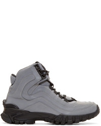 VERSACE Reflective Greek Key Formal High-Top Sneakers 3LK61
