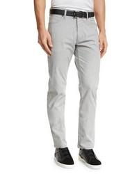 Ermenegildo Zegna Melange Five Pocket Jeans Silver Gray