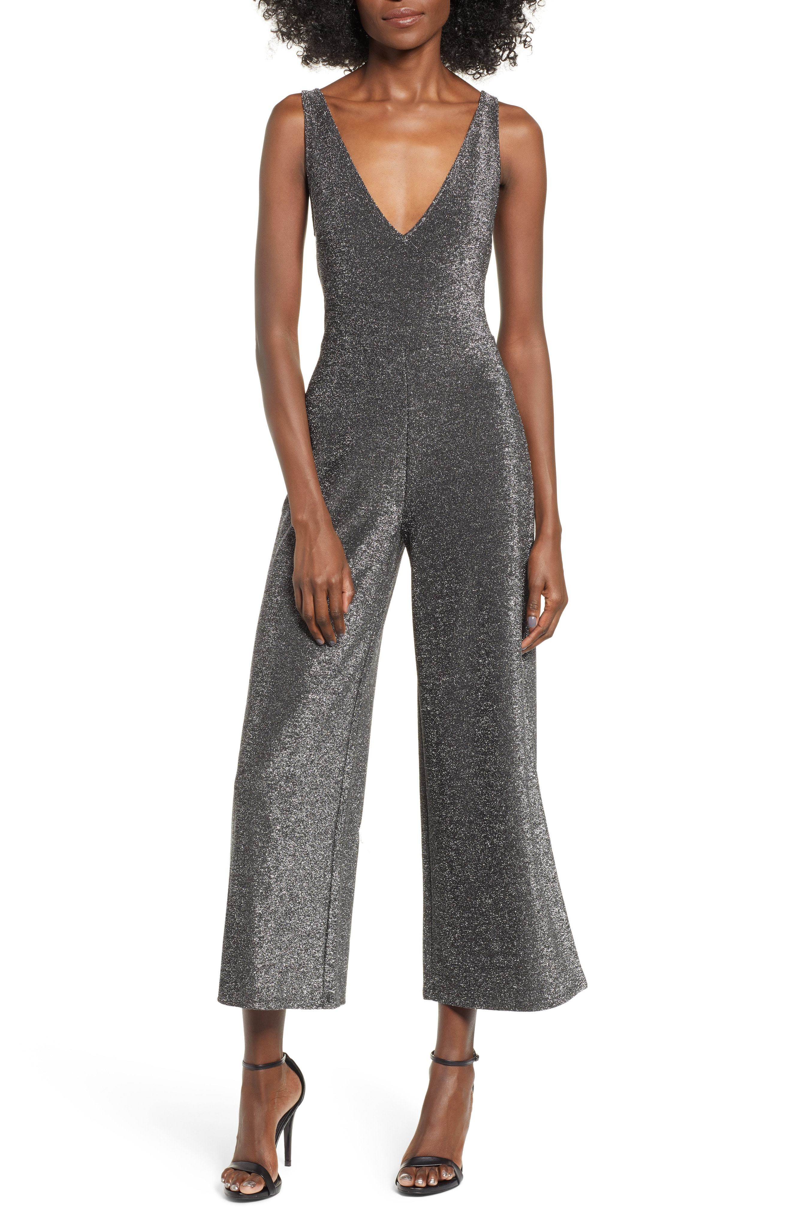Leith Night Out Metallic Jumpsuit