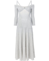 Alexander McQueen Ribbed Jersey Knit Dress