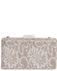 Sondra Roberts Chantilly Lace Box Clutch Metallic