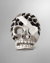 Crystal skull lapel pin medium 12033