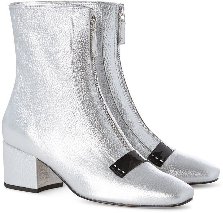 Dorateymur Silver Leather Delta Ankle Boots 500 Avenue32