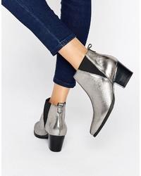 Carvela Slicker Leather Mid Heeled Ankle Boots