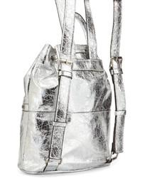 2db3e02f122 French Connection Mara Metallic Drawstring Backpack Silver, $70 ...