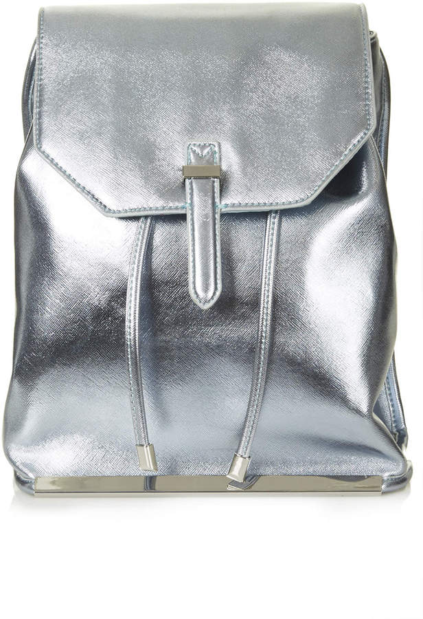 Silver Leather Backpack Crazy Backpacks