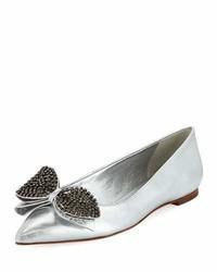 Tory Burch Rosalind Metallic Ballet Flat