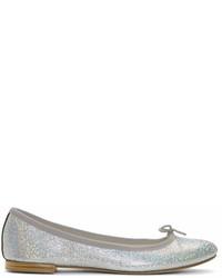 Repetto Silver Cendrillon Ballerina Flats