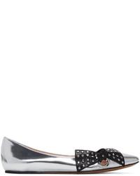 Marc Jacobs Silver Rita Ballerina Flats