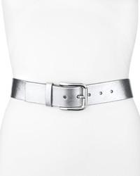Silver Leather Belt