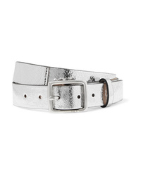 Rag & Bone Boyfriend Metallic Crinkled Leather Belt