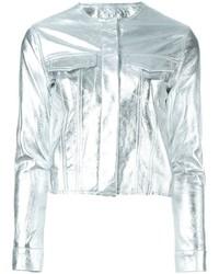 Marques almeida marquesalmeida cropped metallic jacket medium 455182