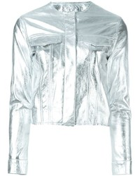 MARQUES ALMEIDA Marquesalmeida Cropped Metallic Jacket