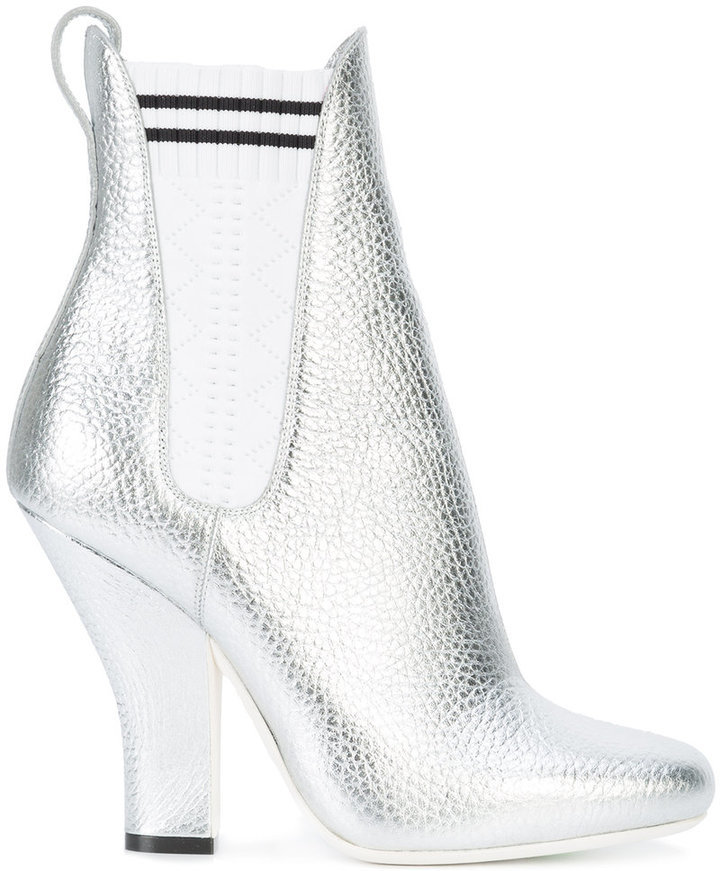 65a2f076239 ... Fendi Metallic Sock Boots ...