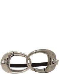 Lanvin Black Silver Hooks Bracelet