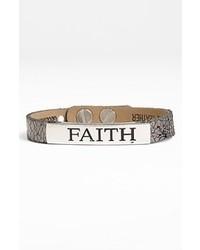 Good Work S Make A Difference Life Inspiration Leather Bracelet Metallic Gunmetal Faith