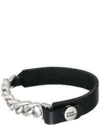 Steve Madden Leather Curb Chain Bracelet Bracelet