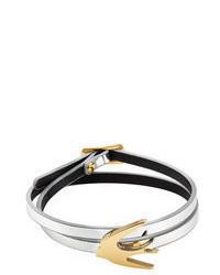 McQ by Alexander McQueen Mcq Alexander Mcqueen Swallow Mini Wrap Leather Bracelet