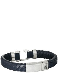 Steve Madden Stainless Steel Leather Bracelet Bracelet