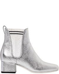 Fendi 40mm Metallic Leather Chelsea Boots