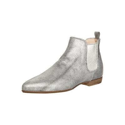 silver ankle boots cr boot