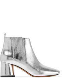 Rocket metallic leather chelsea boots silver medium 3659342