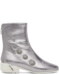 Raf Simons Silver Solaris 21 High Zip Up Boots