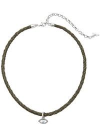 Lucky Brand Evil Eye Leather Choker Necklace Necklace
